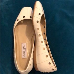White Paton leather Jimmy Choo flats
